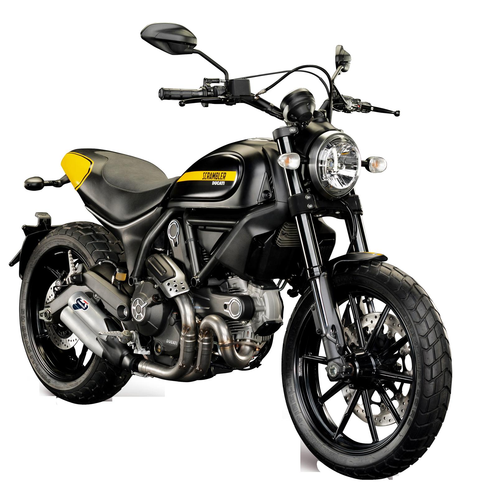Ducati scrambler bike png. Motorcycle clipart motor bicycle