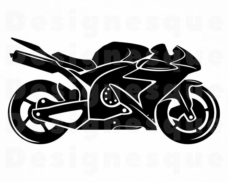 Motorcycle clipart motor bicycle. Svg bike files for