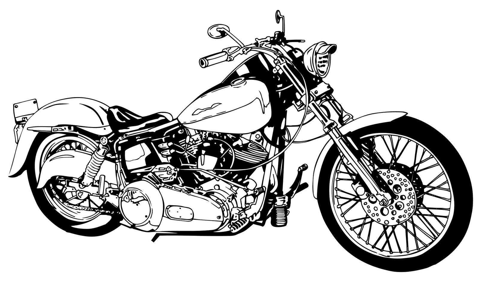 Chopper clip art . Motorcycle clipart motorcycle harley davidson