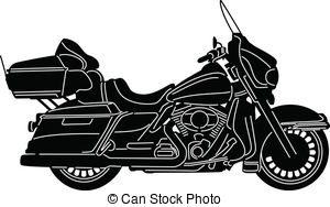 Black and white . Motorcycle clipart motorcycle harley davidson