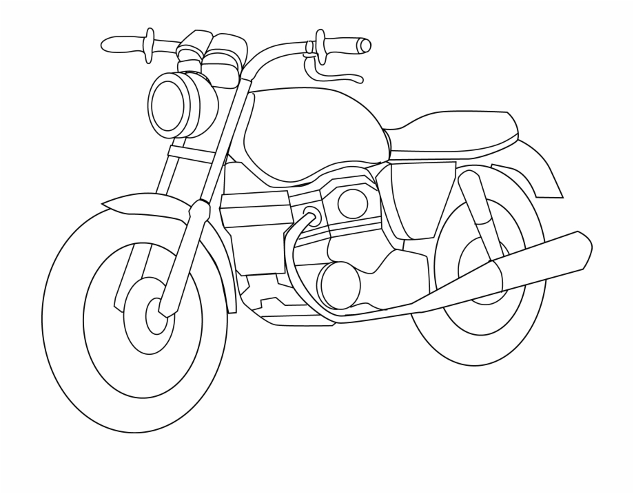 Black and white . Motorcycle clipart motorcycle honda