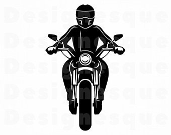 Motorcycle clipart motorcycle rider. Svg etsy