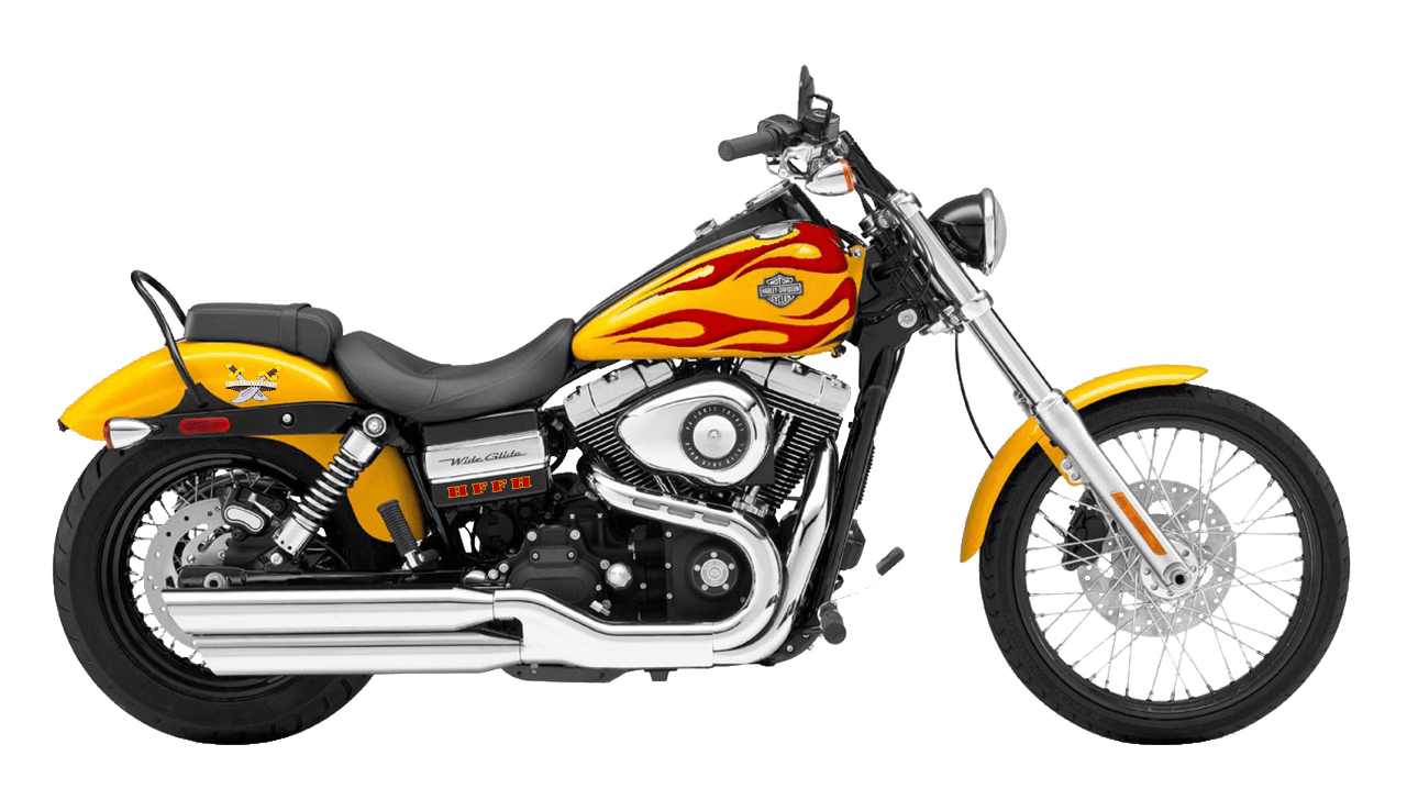 Red yellow harley davidson. Motorcycle clipart motorcycle shop