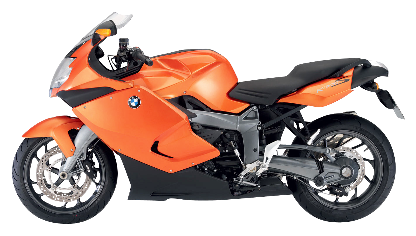 Bmw k s png. Motorcycle clipart orange