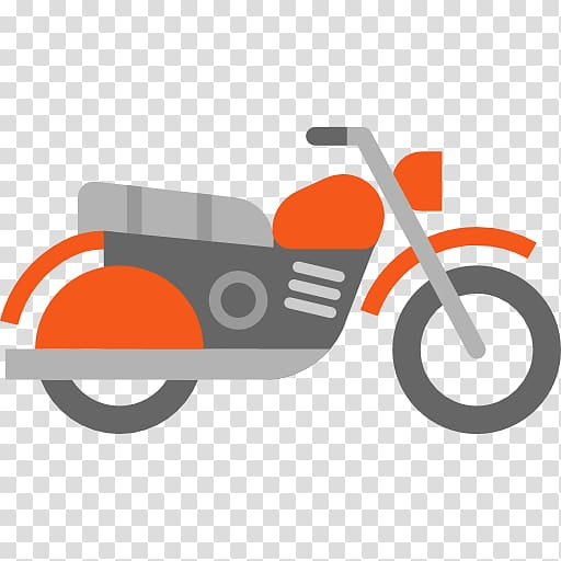 Car transport icon transparent. Motorcycle clipart orange