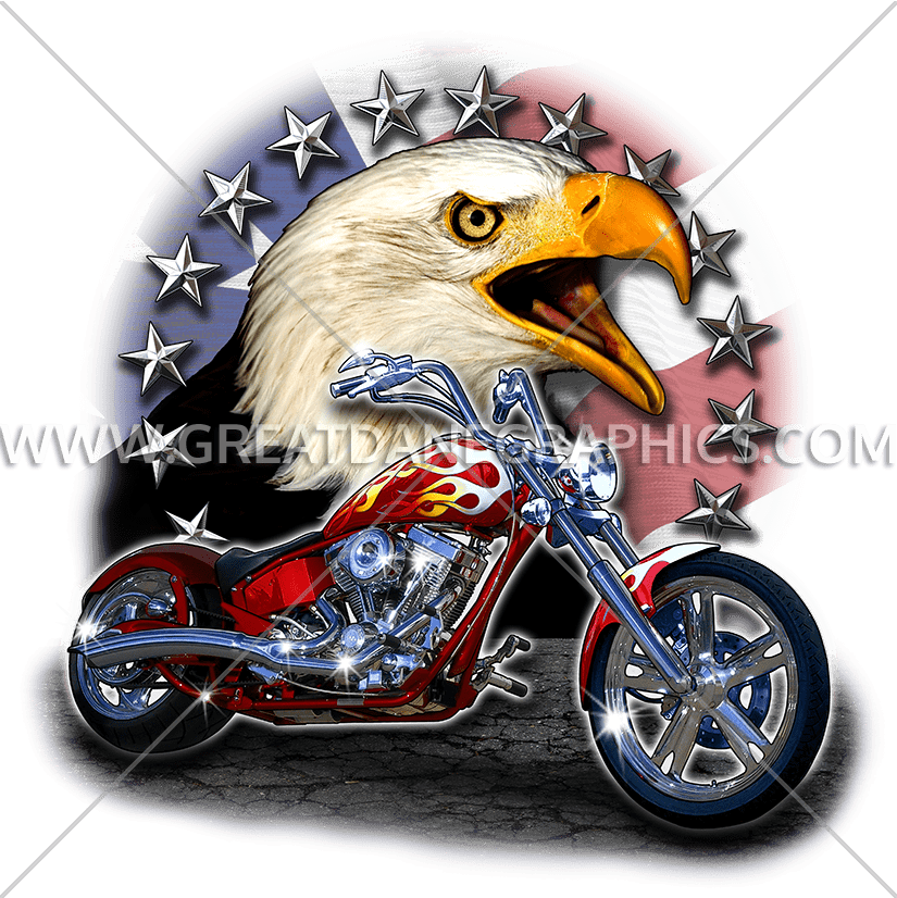 Motorcycle clipart patriotic. Eagle chopper production ready