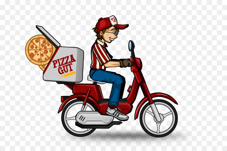 Box bicycle . Motorcycle clipart pizza