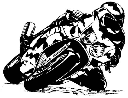 Motorcycle clipart racing motorcycle. Black and white