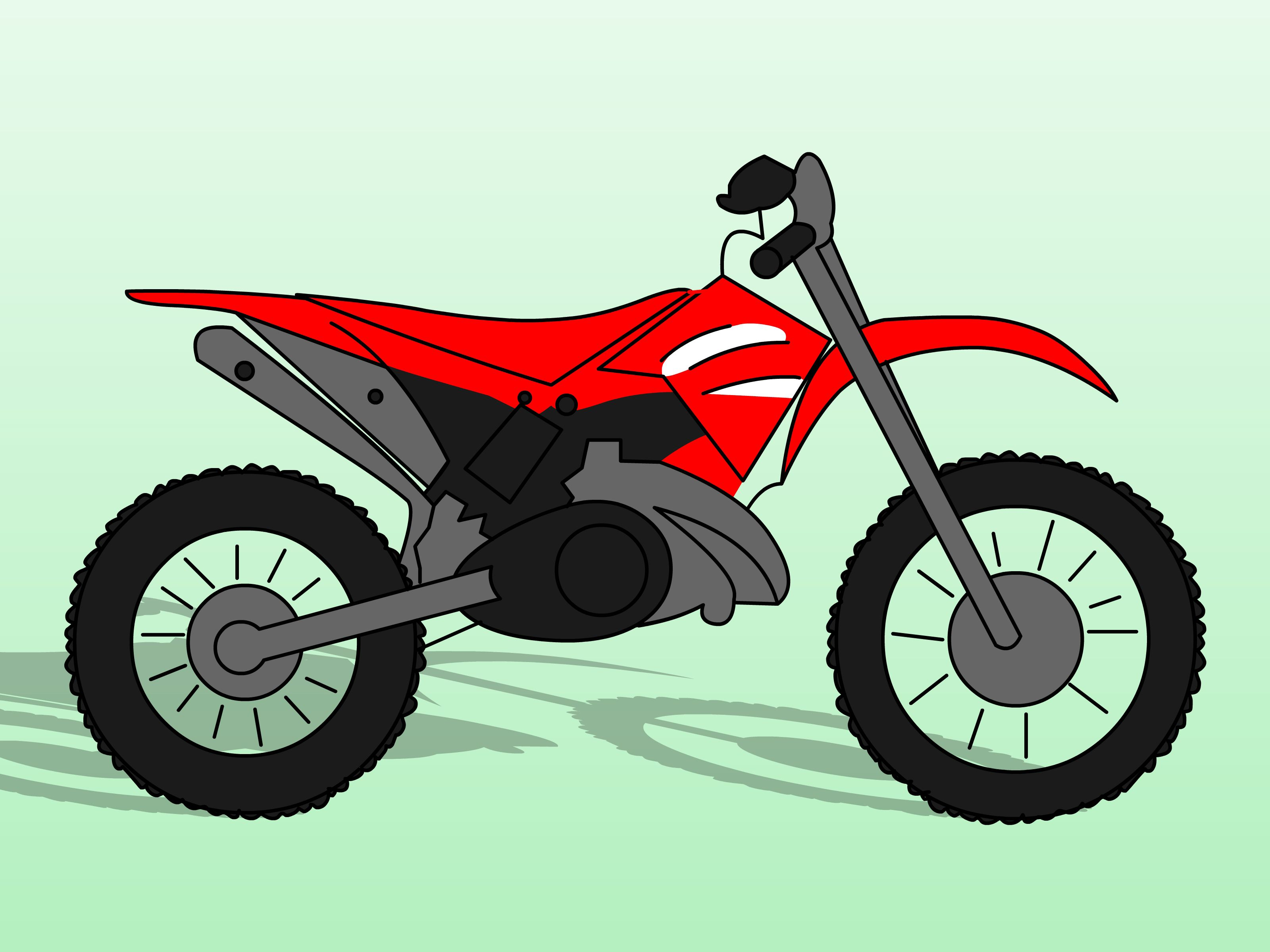 Motorcycle clipart red dirt. Draw bikes cakes bike