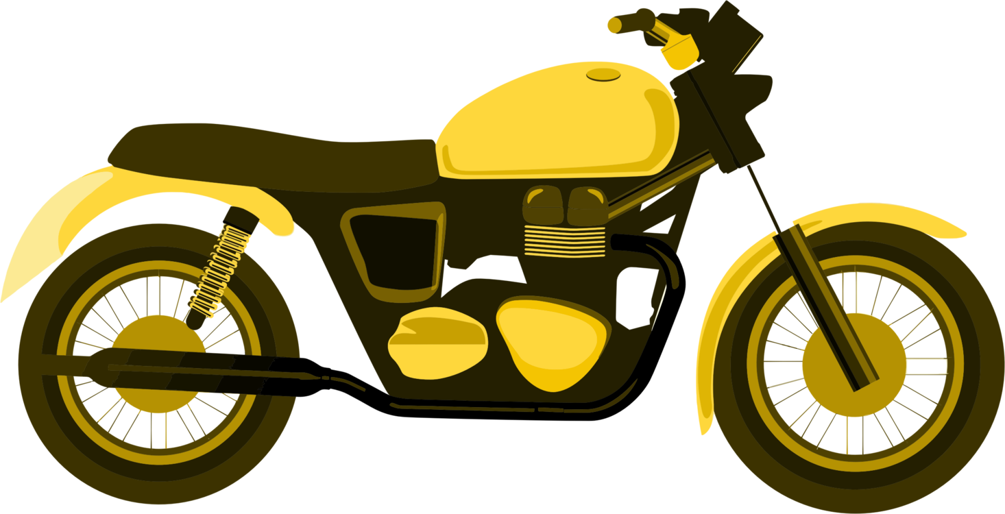 Wheel car yellow png. Motorcycle clipart road transport