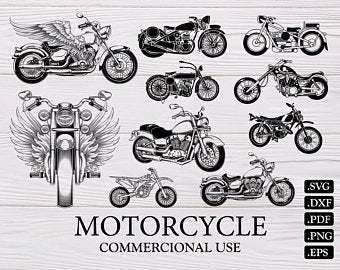 Etsy . Motorcycle clipart road transport