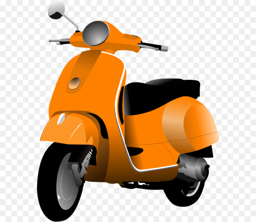Car cartoon scooter transparent. Motorcycle clipart scooty