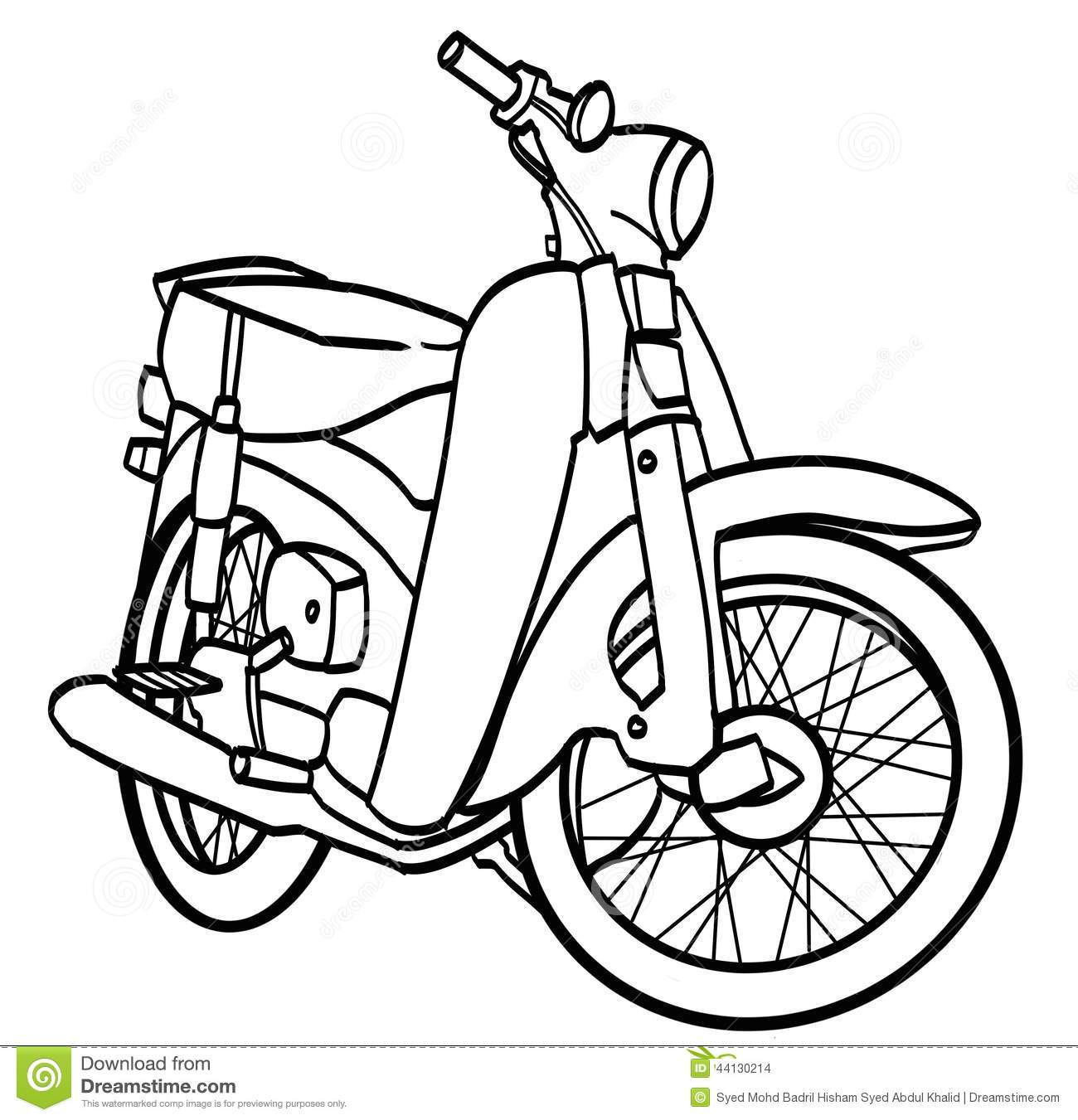 Motorcycle clipart simple. Drawing at paintingvalley com