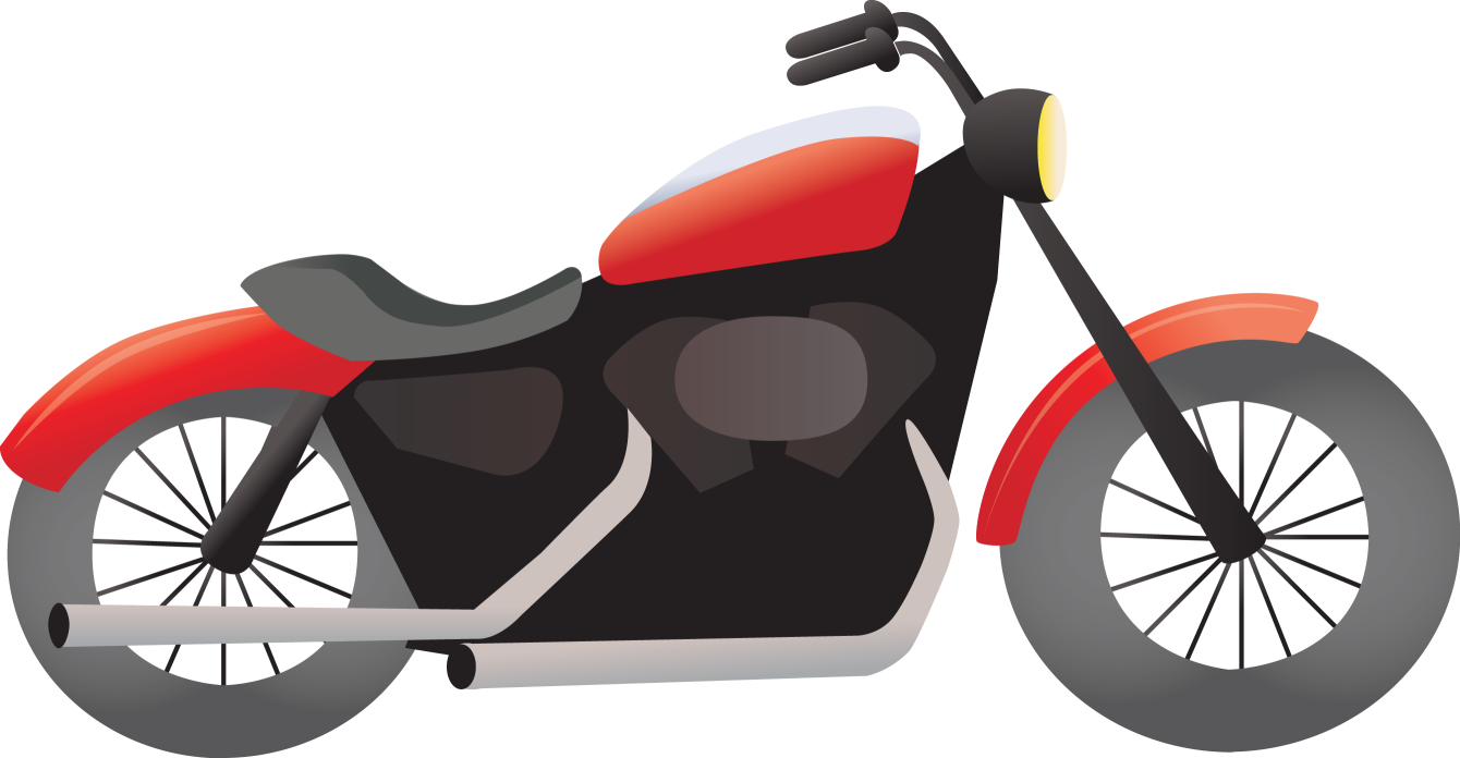 Png cool black harley. Motorcycle clipart simple