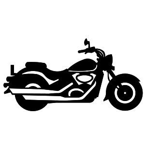 Black and white . Motorcycle clipart simple