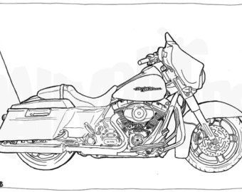 Motorcycle Clipart Street Glide Motorcycle Street Glide