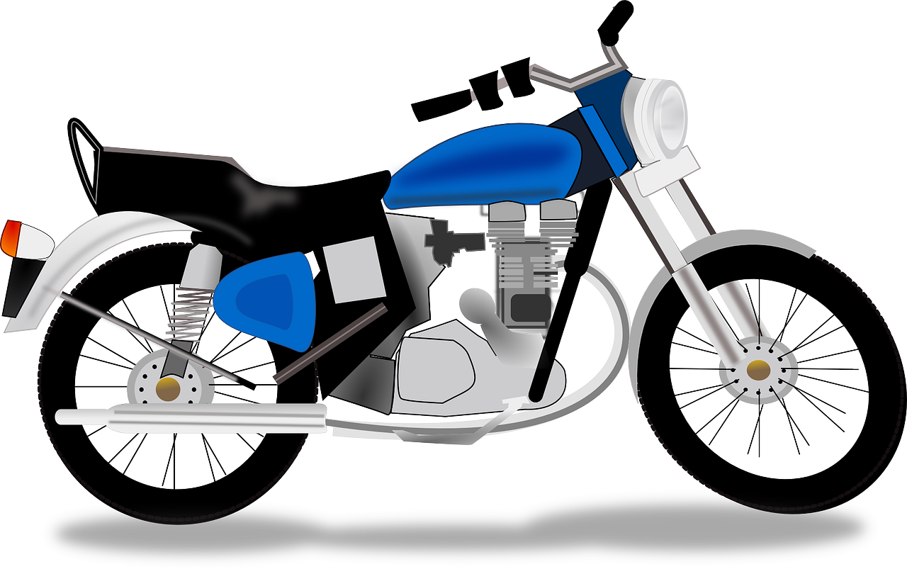 great simple land. Motorcycle clipart stylized