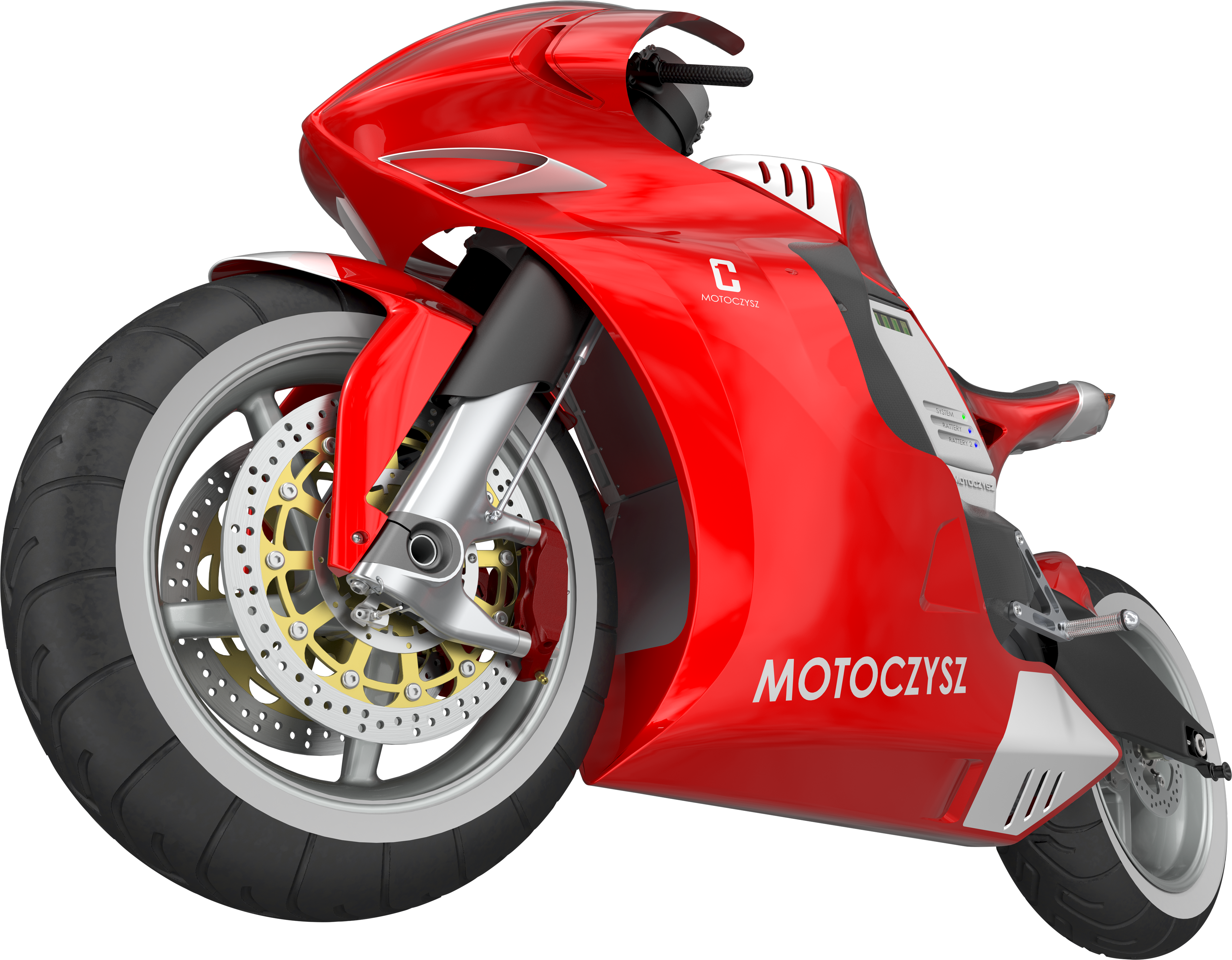 great red motorcycle. Race clipart motor bike