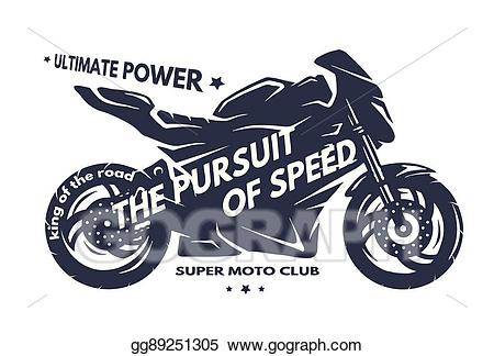 Motorcycle clipart superbike. Vector stock sport