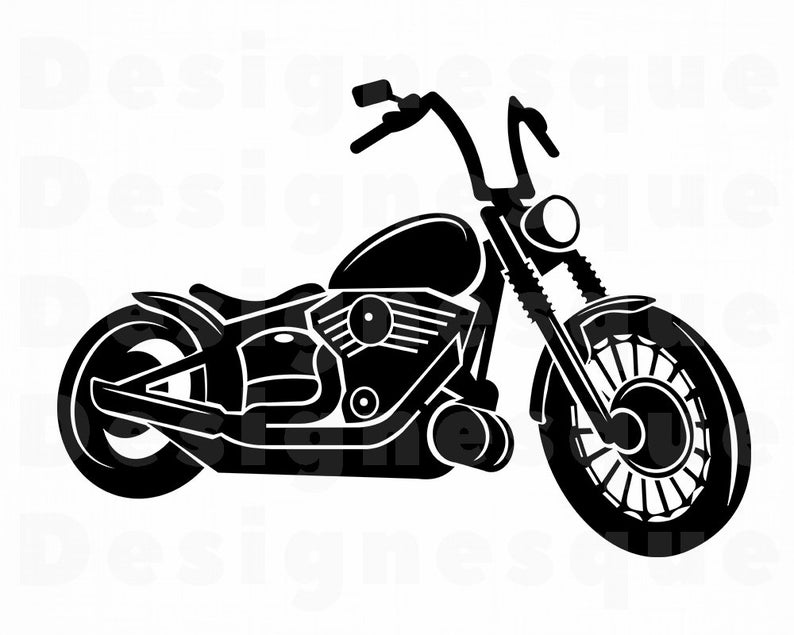 Motor bike files for. Motorcycle clipart svg