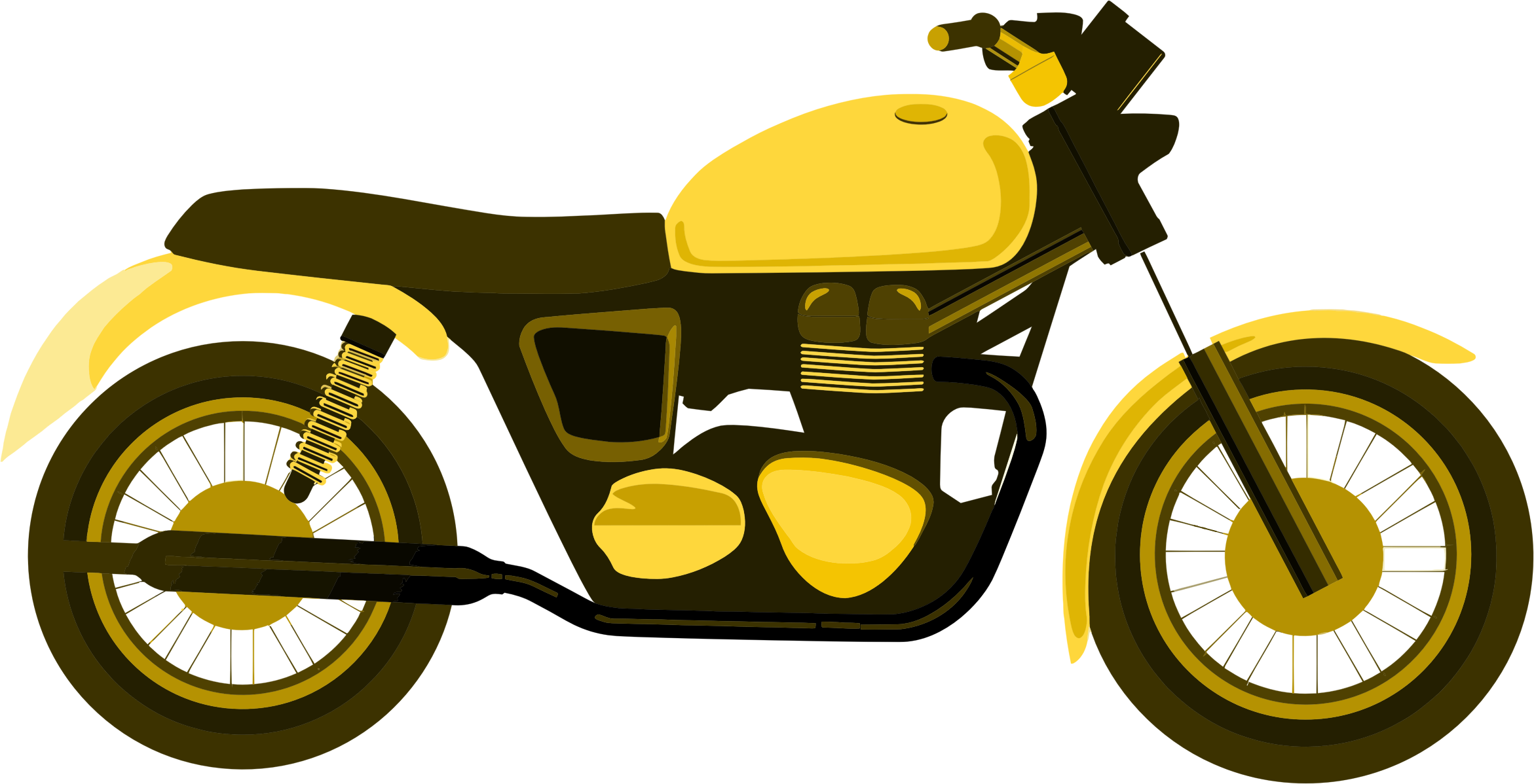 Motorcycle clipart svg. Yellow big image png