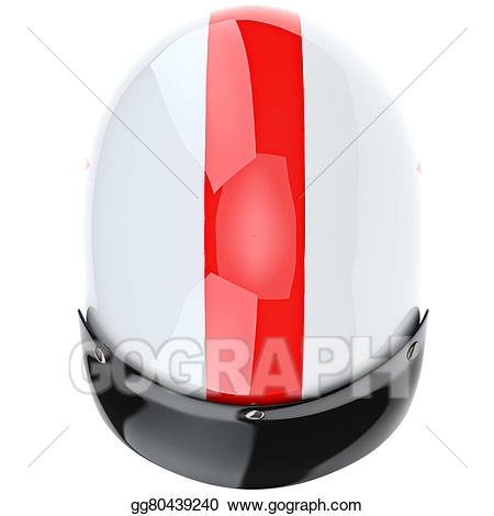Motorcycle clipart top view. Helmet with red stripe