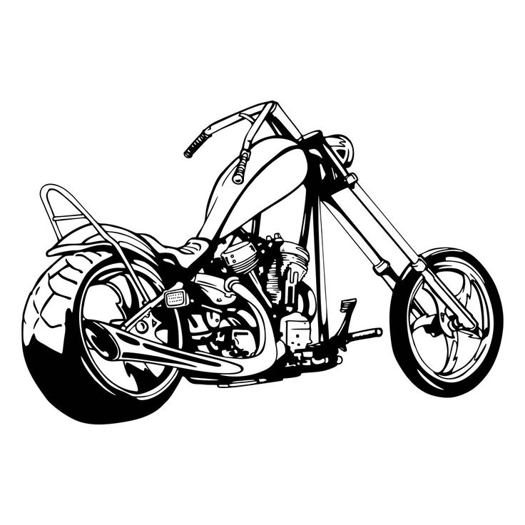 Chopper graphics svg dxf. Motorcycle clipart vector