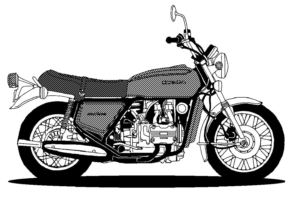 Motorcycle clipart vintage motorcycle. Black and white