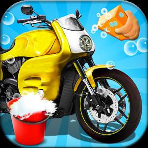 Wash . Motorcycle clipart washing