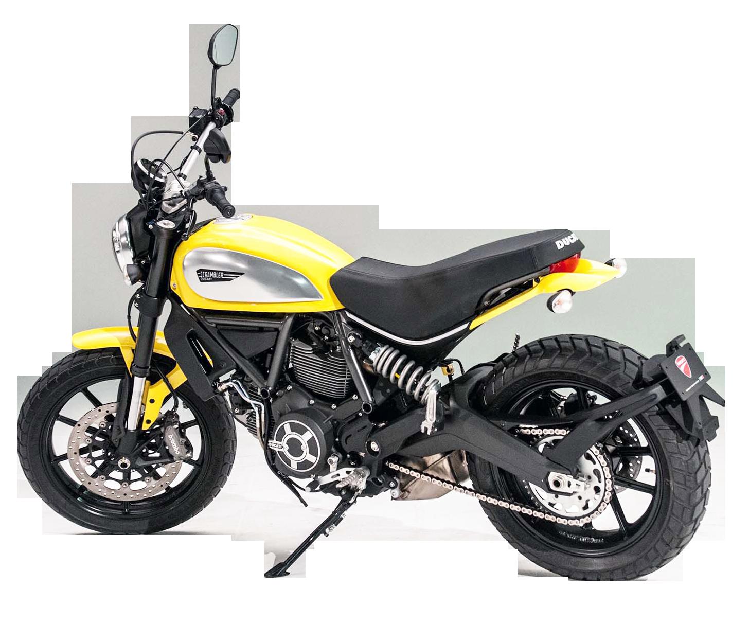 Ducati scrambler bike png. Motorcycle clipart yellow motorcycle