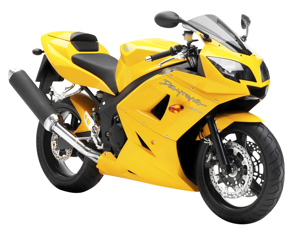Transparent pluspng yellow triumph. Motorcycle png images