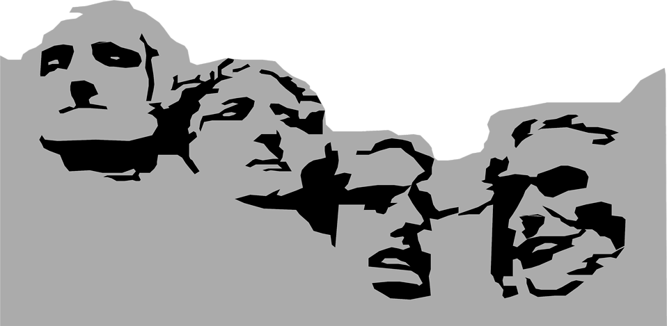 Mount rushmore clipart. Free stock photo illustration