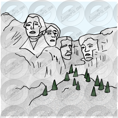 Mount rushmore clipart. Picture for classroom therapy