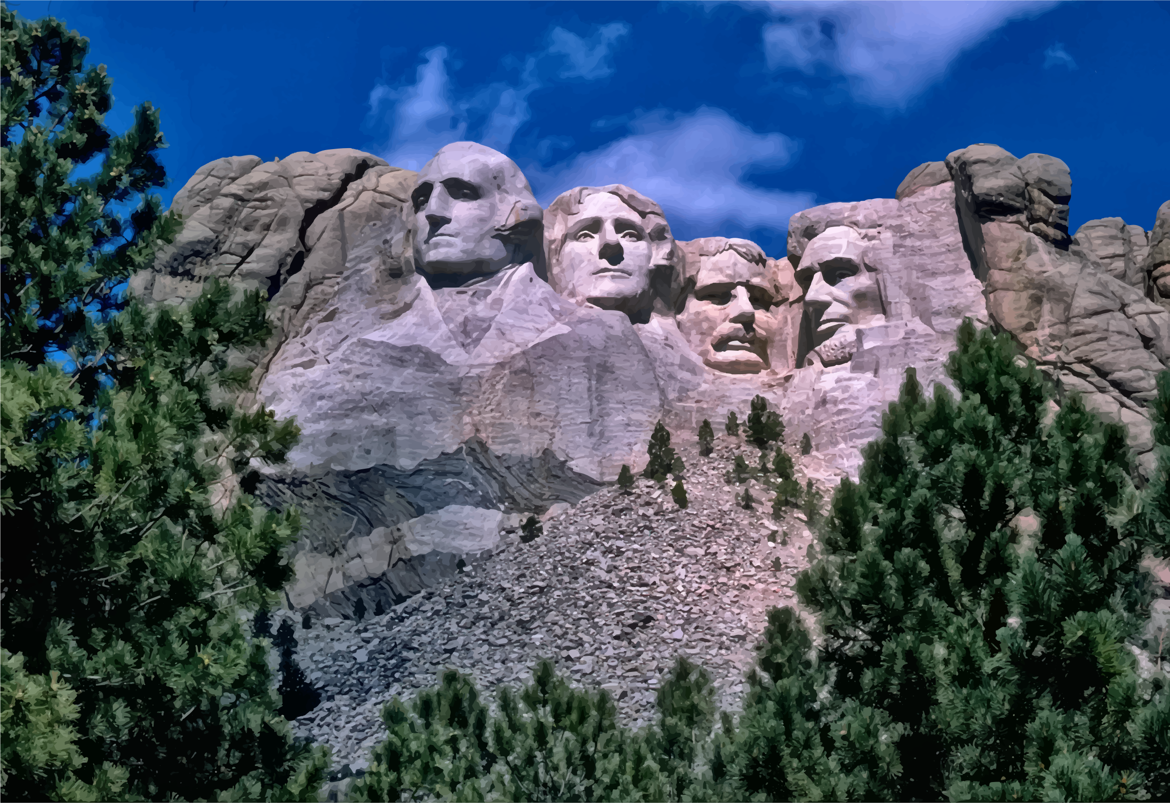 Mount rushmore clipart. National memorial night big