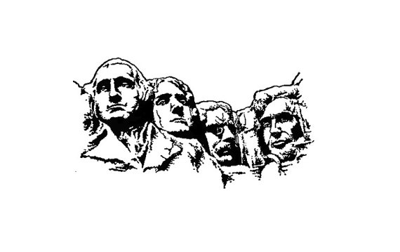 Mount rushmore clipart. Rubber stamp united states