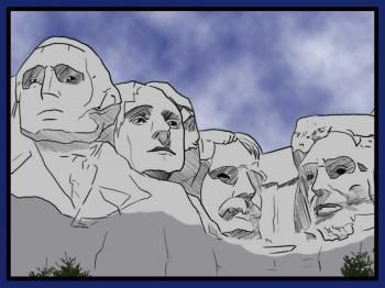 Sketch at paintingvalley com. Mount rushmore clipart animated