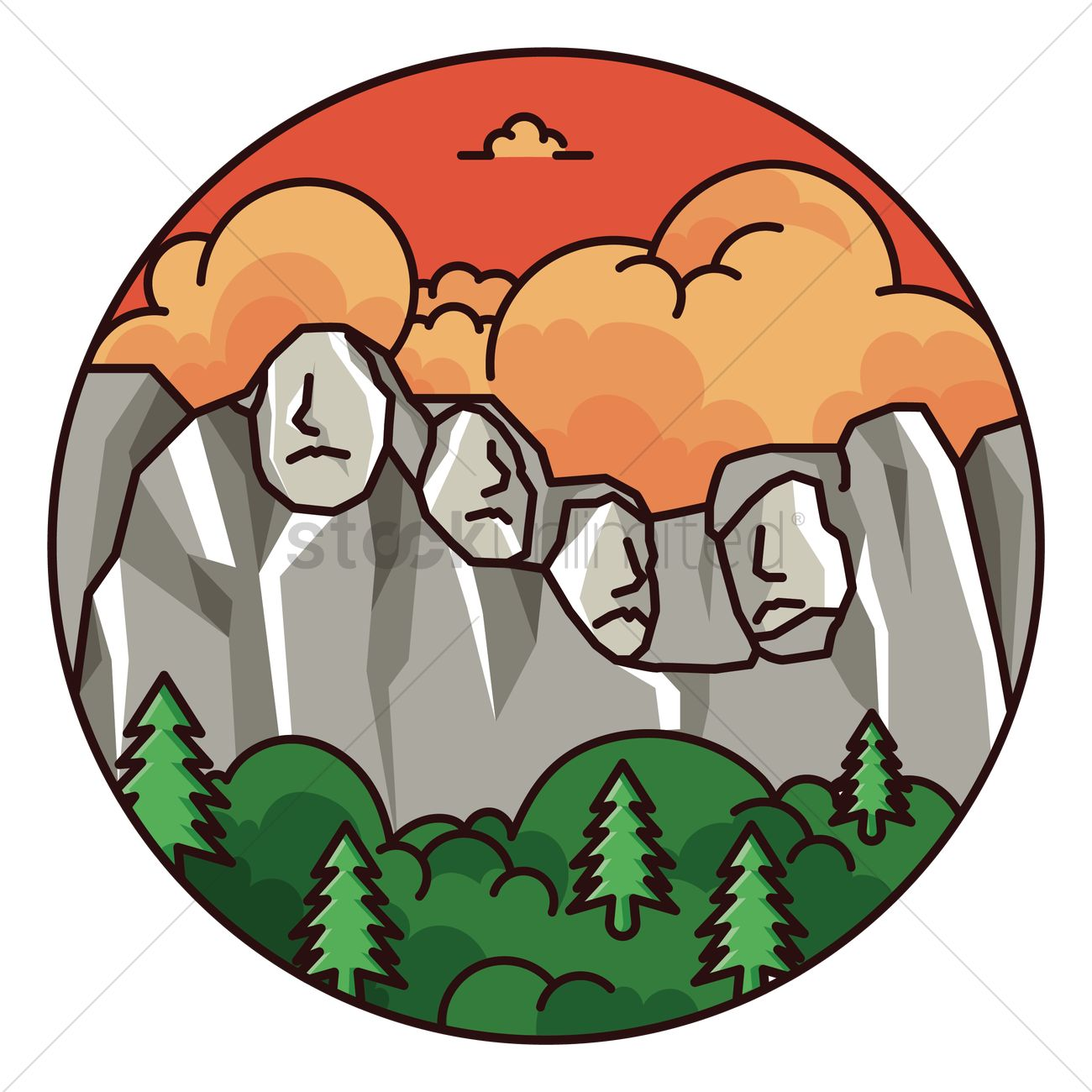 Cartoon free download best. Mount rushmore clipart animated