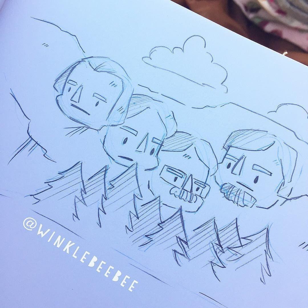 Mount rushmore clipart doodle. Regram winklebeebee june th