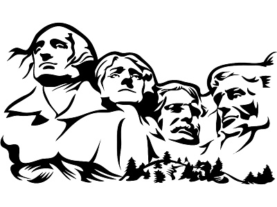 Clipground. Mount rushmore clipart
