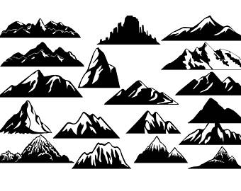 Mountain clipart. Etsy