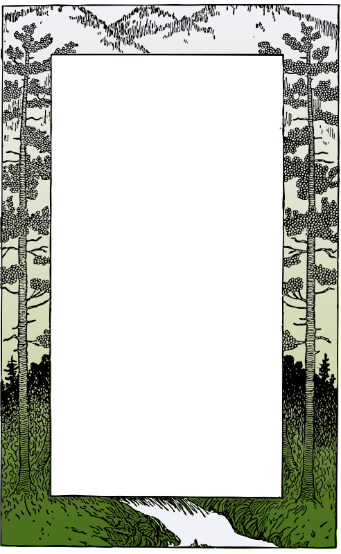 Frame free stock page. Mountain clipart banner