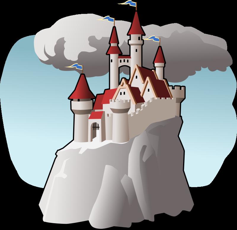 Mountain clipart bitmap. Castle medium image png