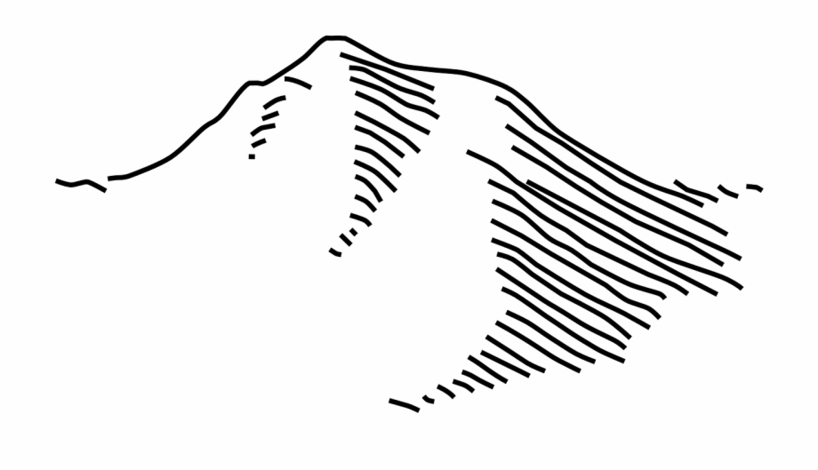 Mountain clipart drawing. Simple forest map