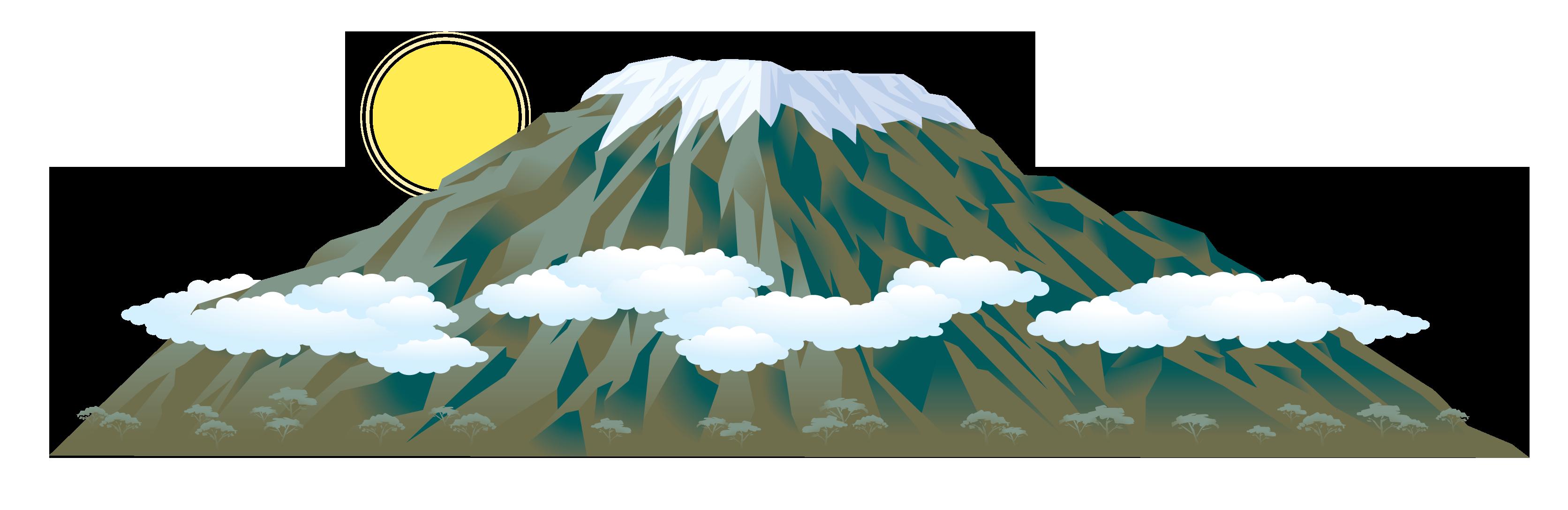 Mount kilimanjaro clip art. Mountain clipart everest