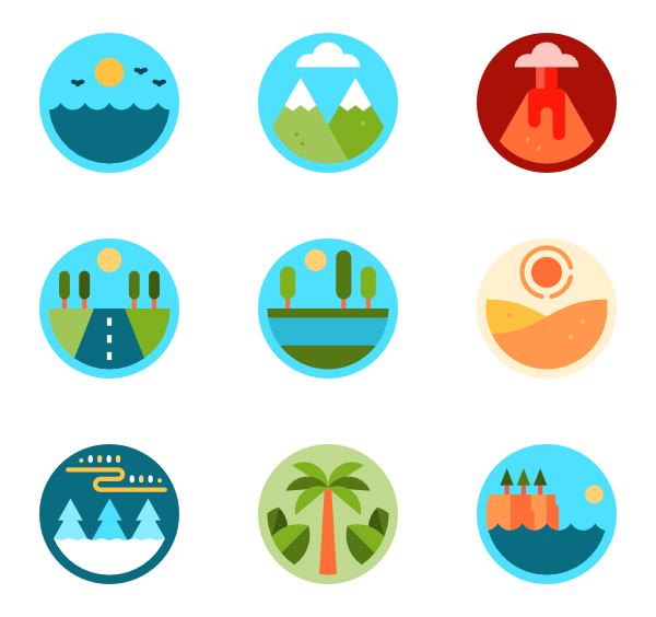 Mountain clipart mountain landscape. Icons free vector landscapes