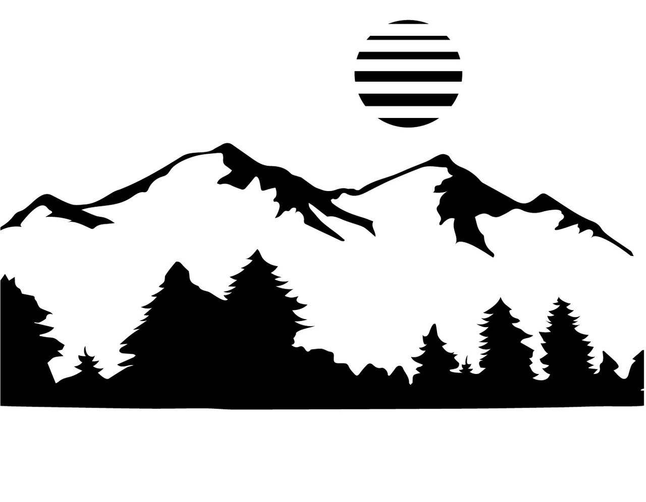 Mountain clipart mountain scenery. Drawing free download best