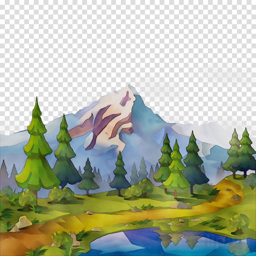 Nature clipart mountain. Family tree drawing painting