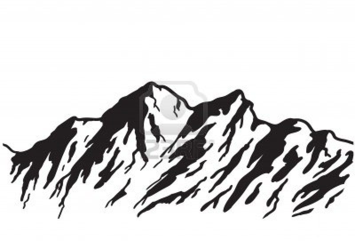 Mountains clipart sketch. Stock vector other projects