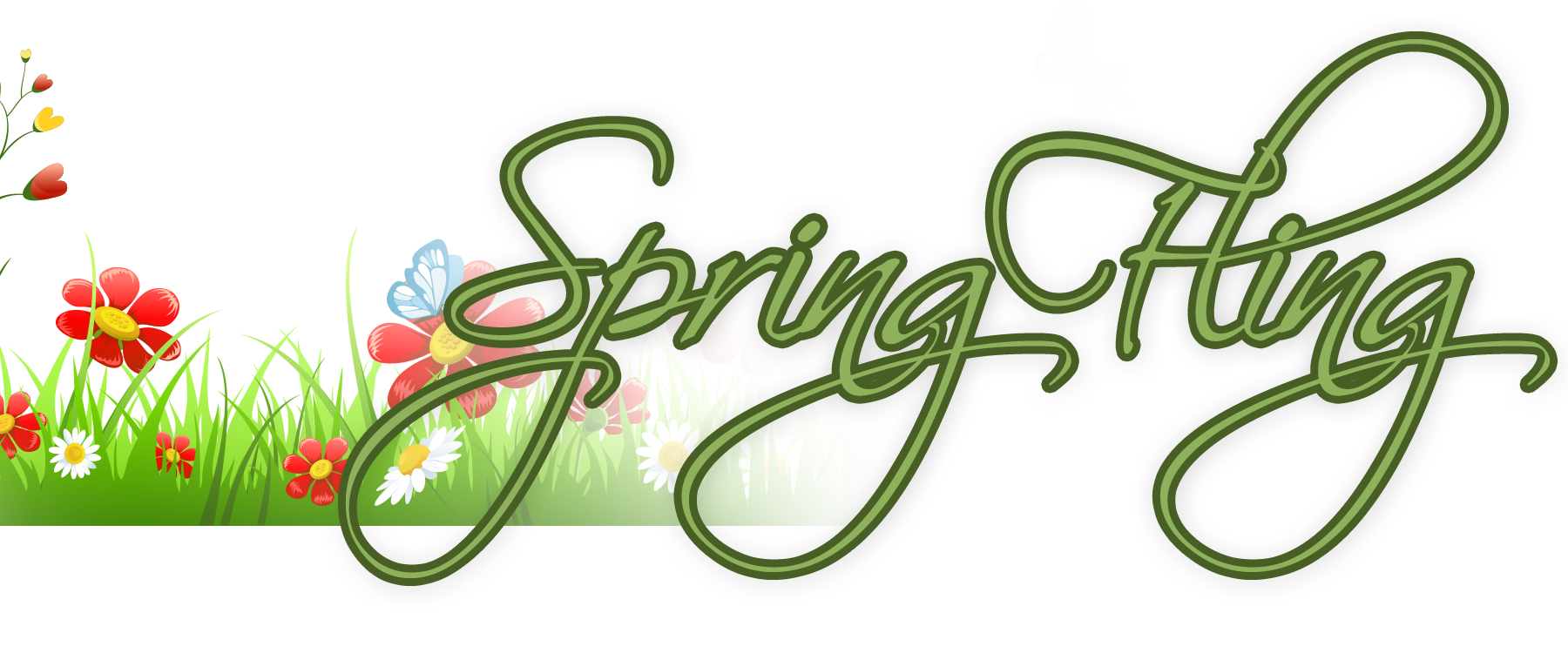 Fling open house tussey. Mountain clipart spring