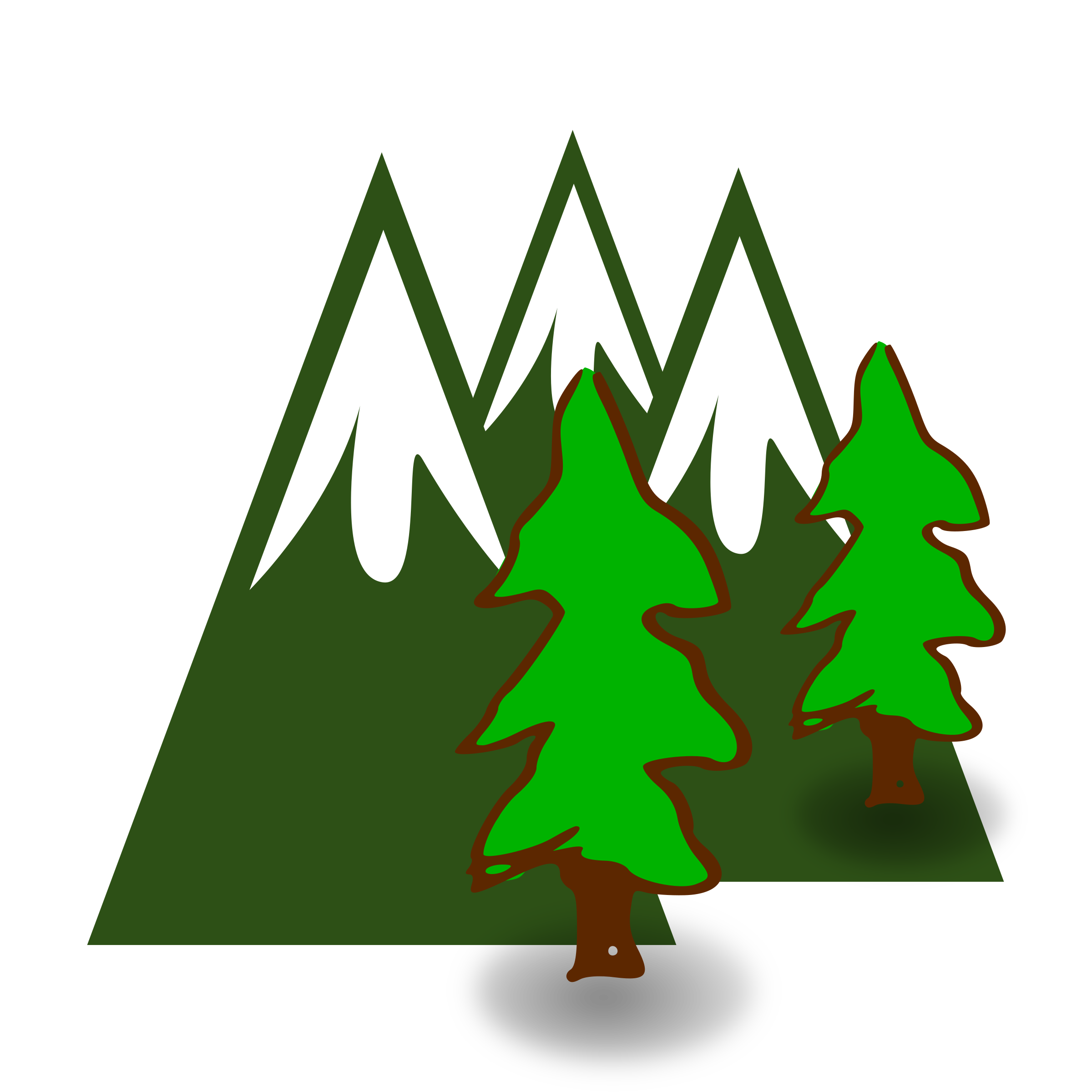 Tree clipart evergreen. Mountains icons png free